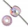 Glass 3mm Light Amethyst Aurora Borealis Round Bead Strung